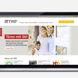 Corporate Website – TMP Fenster + Türen